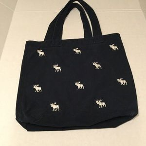 Navy Blue Canvas Abercrombie Kids Moose Tote
